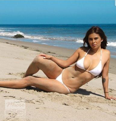 Danielle Ruiz Micro Gigi Sheer White Bikini 4