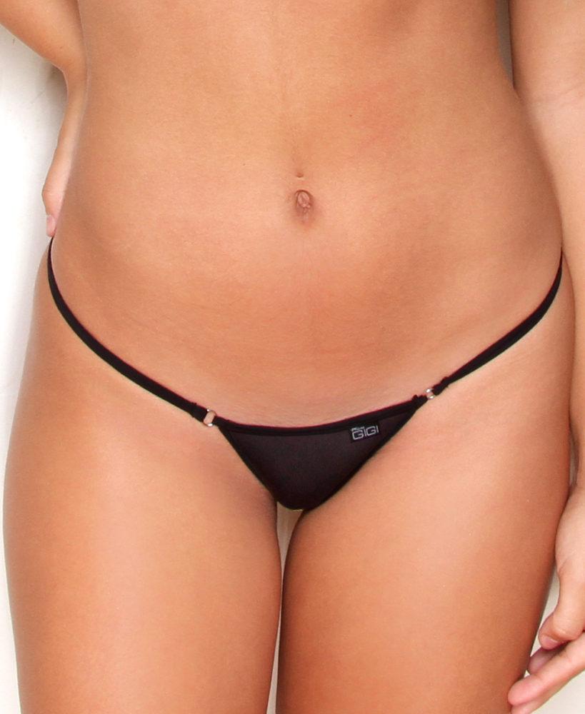 Pegajoso Ajustable congestión  Mini Sheer G-String Bikini Bottom - Micro Gigi