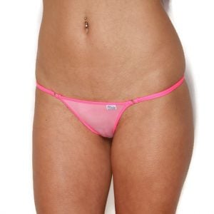 Mini Sheer Two Tone Pink Bikini Bottom