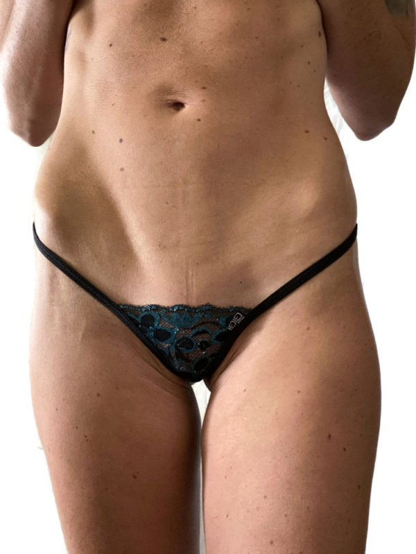 Midnight Teal Lace G-String 5